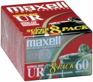 MAXELL 109085 Normal Bias Audio Tape 60 min 8-pk 109085