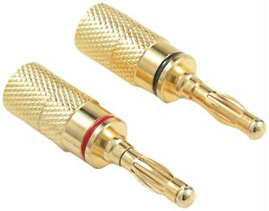 OEM SYSTEMS IW-4PLUG Gold-Plated Banana Plugs Compression screw-on type 4-pk IW-4PLUG
