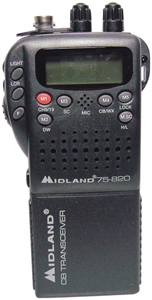 MIDLAND 75-822 Mini 40-Channel CB with Weather All-Hazard Monitor & Mobile Adapter