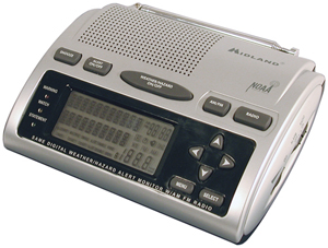 MIDLAND WR-300 Deluxe S.A.M.E. Weather-Alert All-Hazard Radio with AM FM