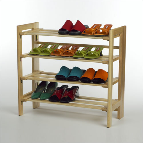 Winsome 81228 Natural Beechwood SHOE RACK 4-TIER