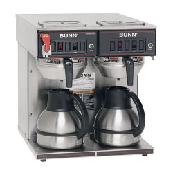 Bunn 23400.0047 Thermo Fresh TWIN-Thermal Carafe 120/240V Stainless Steel Funnel Coffee Brewer at Sears.com