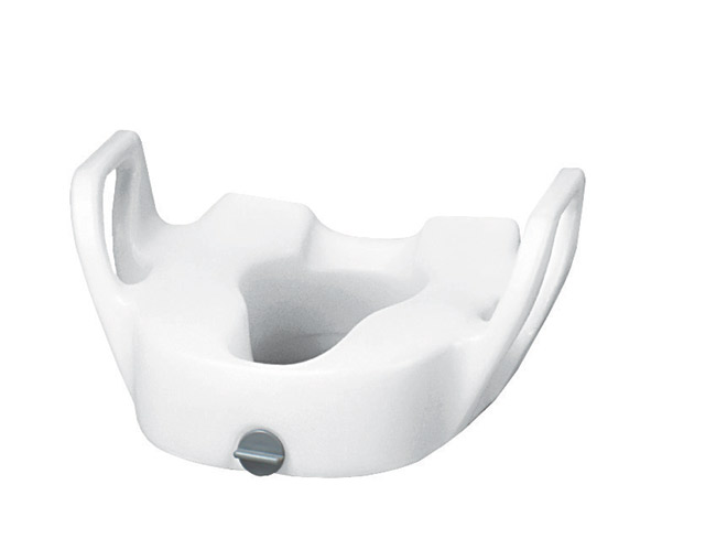 Drive Medical 12013 Premium Plastic Elevated Toilet Seat with Lock With Arms DRM120