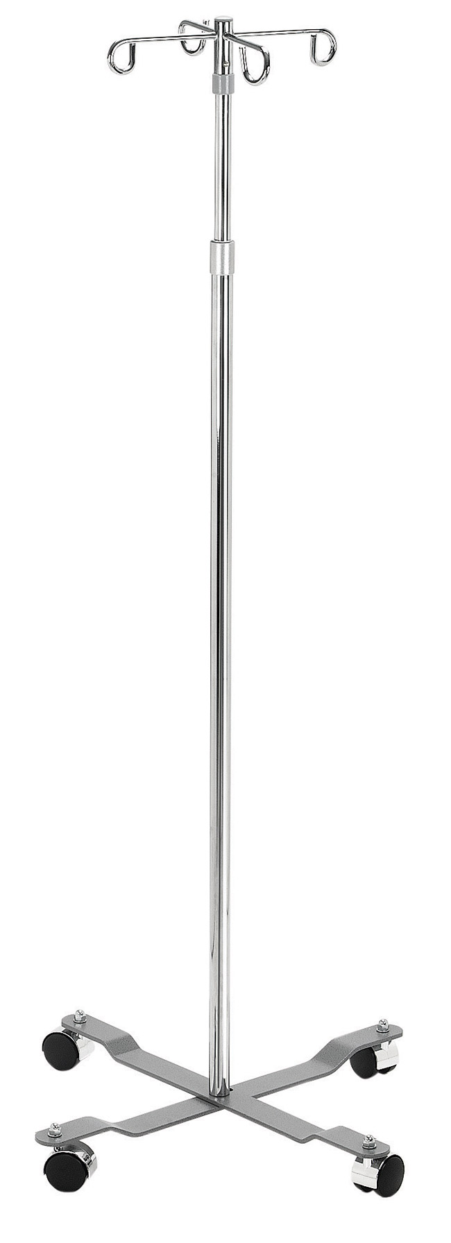 Drive Medical 13029 Economy I.V. Pole 4 Leg with Removable Top 4 Hook