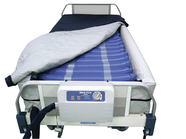 Drive Medical 14029DP Med Aire Plus 8 Inch Defined Perimeter Low Air Loss and Alternating Pressure Mattress Replacement System Pump and Mattress System
