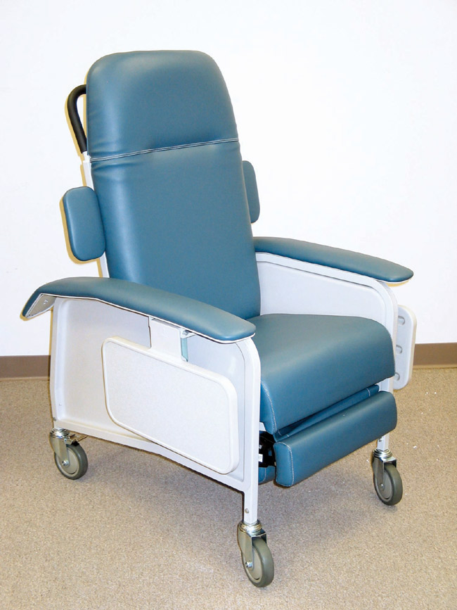 Drive Medical D577-BR Clinical Care Recliner Blue Ridge