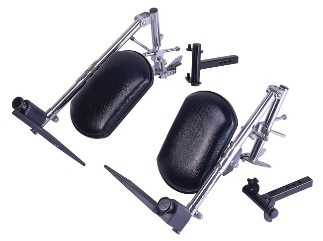 Drive Medical SFELR Swing Away Elevating Legrest Brackets for Rear Wheel Drive Power Bases