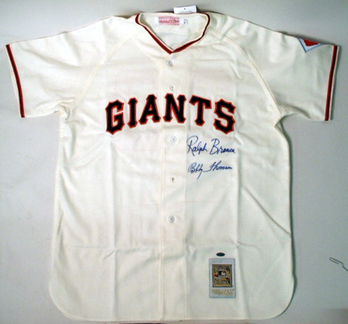 Sports Jerseys - Steiner Sports Ralph Branca And Bobby Thomson Dual Signed Giants Jersey BRANJES000005