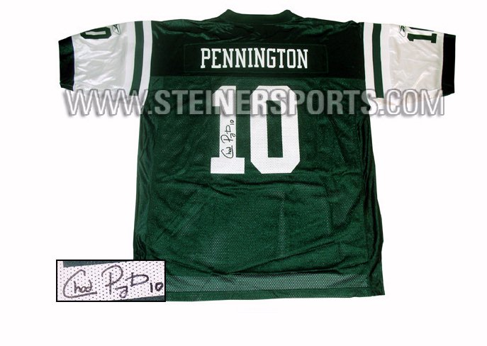 Sports Jerseys - Steiner Sports Chad Pennington Hand Signed Authentic NY Jets Jersey PENNJES000003