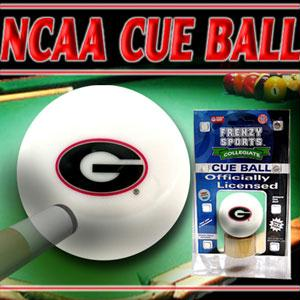 Sports - Georgia Bulldogs Officially Licensed Billiards Cue Ball By Frenzy Sports