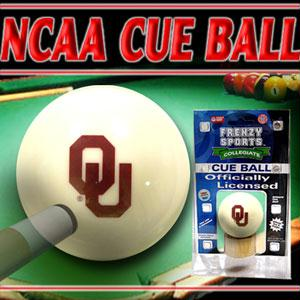 Sports - Oklahoma Sooners Officially Licensed Billiards Cue Ball By Frenzy Sports