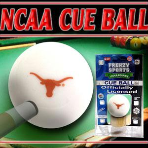 Sports - Texas Longhorns Officially Licensed Billiards Cue Ball By Frenzy Sports