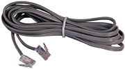AT&T 15901 14-Foot Clear Line Cord in Satin Silver