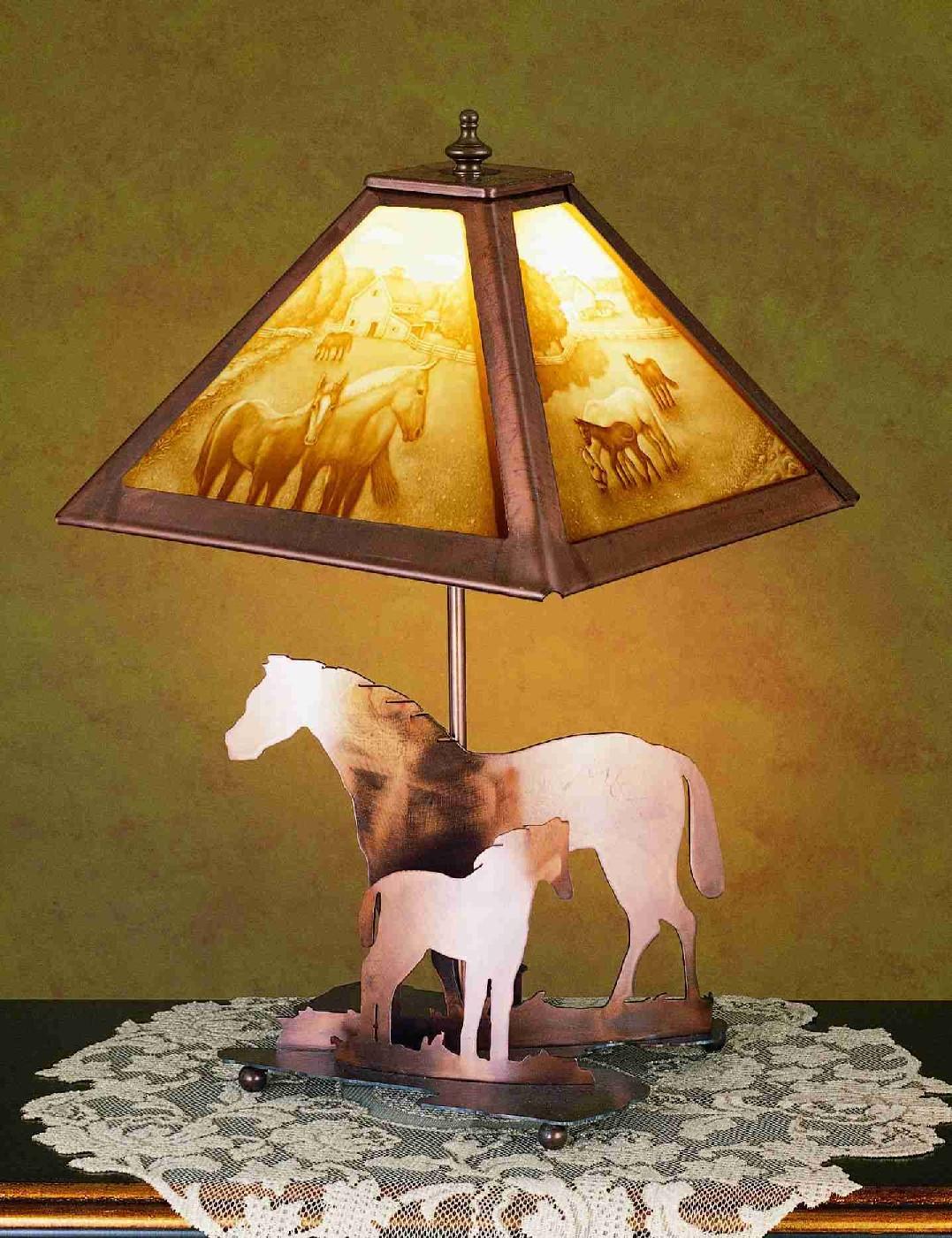 Meyda Tiffany 29711 13.5 Inch Mare & Foal Base A/C