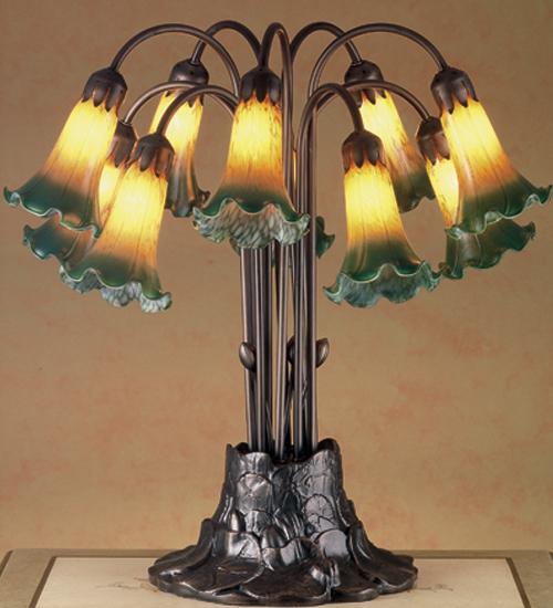 Meyda Tiffany 14357 10 Light Tiffany Pondlily Table Lamp
