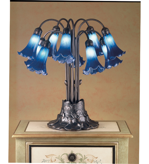 Meyda Tiffany 14397 10 Light Tiffany Pondlily Table Lamp