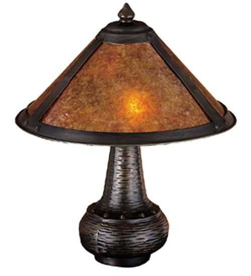 Meyda Tiffany 22619 14 Inch H Van Erp Amber Mica Accent Lamp