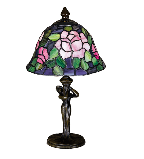 Meyda Tiffany 26488 12 Inch H Tiffany Rosebush Mini Lamp
