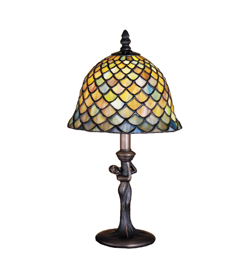 Meyda Tiffany 30315 15 Inch H Tiffany Fishscale Mini Lamp