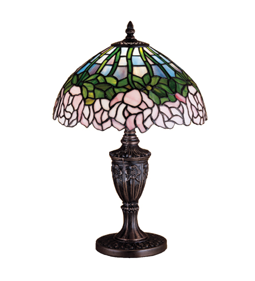 Meyda Tiffany 30343 18 Inch H Cabbage Rose Accent Lamp