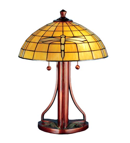 Meyda Tiffany 71419 22 Inch H Dragonfly Table Lamp