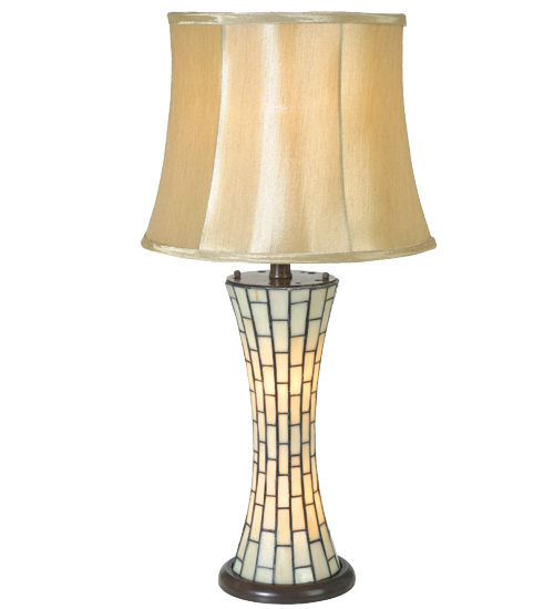 Meyda Tiffany 12581 29 Inch H Corset Lighted Base Table Lamp