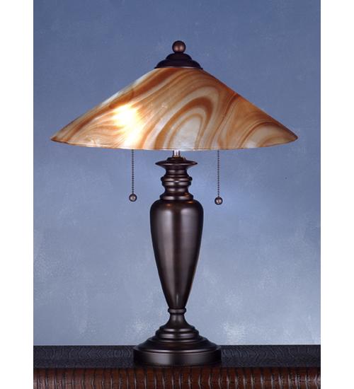 Meyda Tiffany 72848 18 Inch 1/8 Inch Glass Cone 1 5/8 Inch Hole-21.5 Inch H Spun Van Erp/2lt Inch S Inch