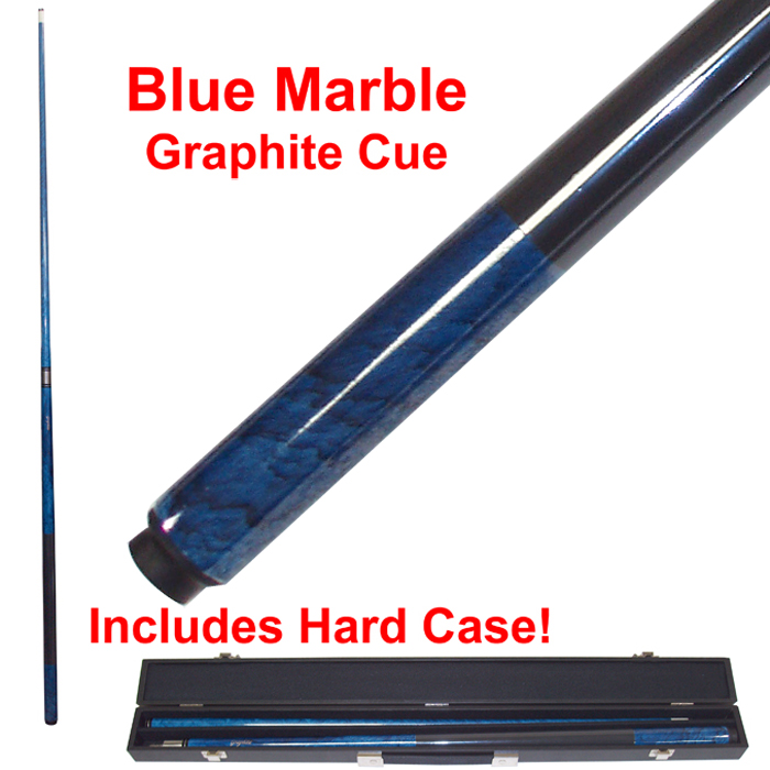 Blue Marble Graphite Cue Billiard Stick