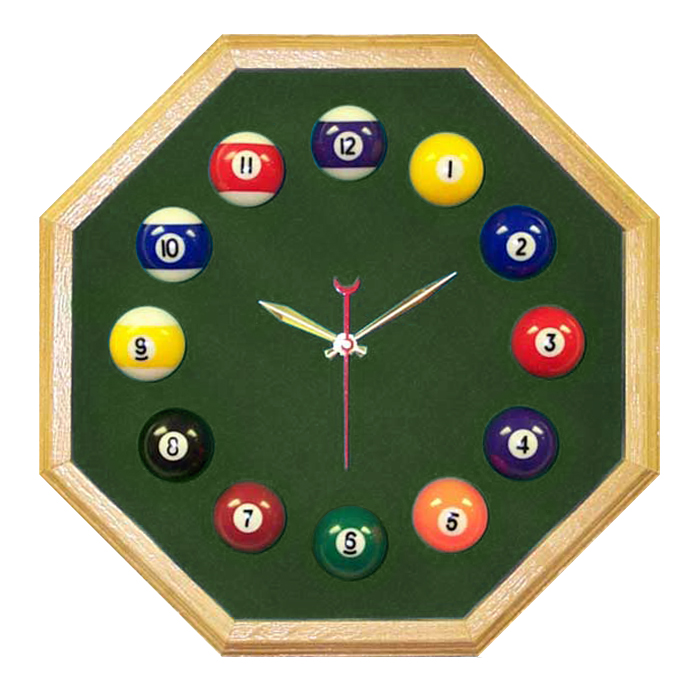 Oak Billiard Clock