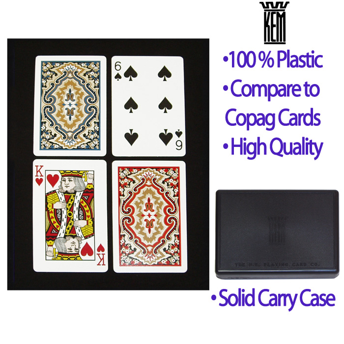 KEM Narrow Paisley Bridge Playing Cards