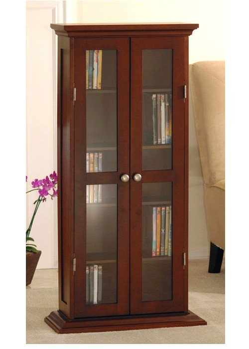 Winsome 94944 CD/DVD Cabinet w/Glass Door-Walnut at Sears.com