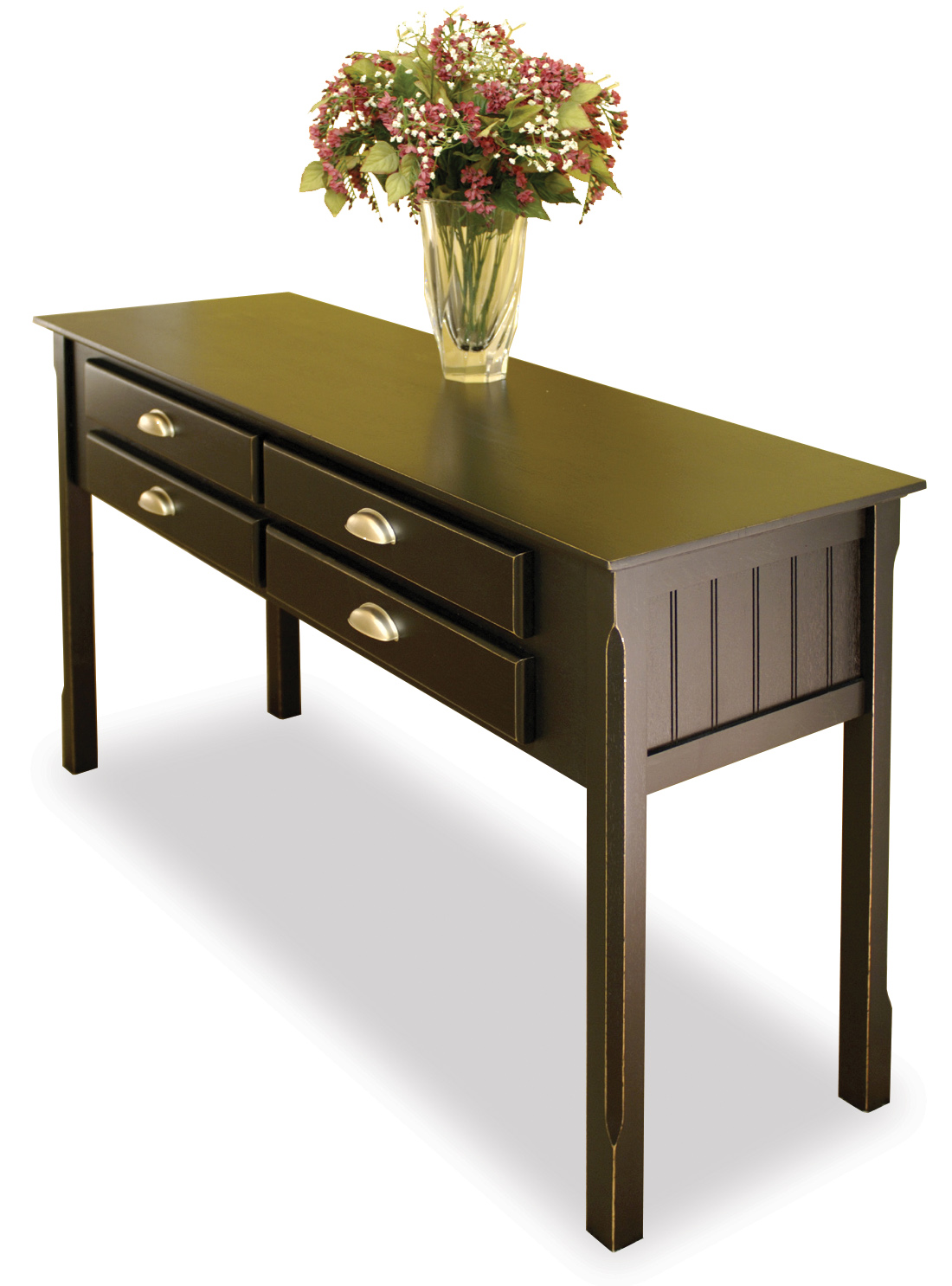 Winsome 20450 Black Beechwood CONSOLE/HALL TABLE WITH DRAWERS