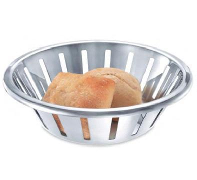 Zack 22428 VOLTA Stainless Steel Bread Basket  Round- Stainless Steal
