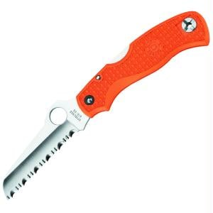 SPYDERCO C45SOR Rescue Jr. Orange FRN Handle Serrated