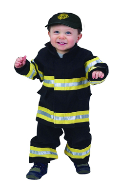 Aeromax FFB-18M Junior Fire Fighter Suit size 18M - Black