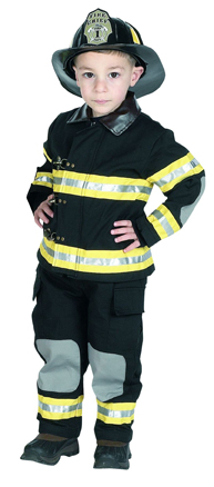 Cheap Suits - Aeromax FFB-23 Junior Fire Fighter Suit Size 2/3 - Black