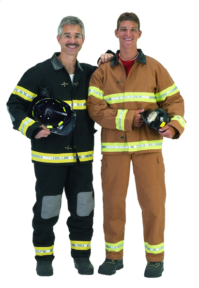 Aeromax FFB-ADULT LRG Adult Fire Fighter Suit with Helmet size LRG - Black