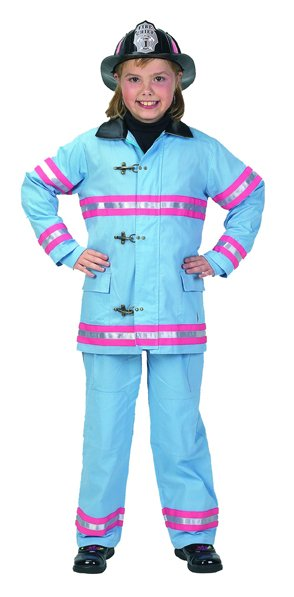 Cheap Suits - Aeromax FFP-46 Junior Fire Fighter Suit Size 4/6 - Blue/Pink