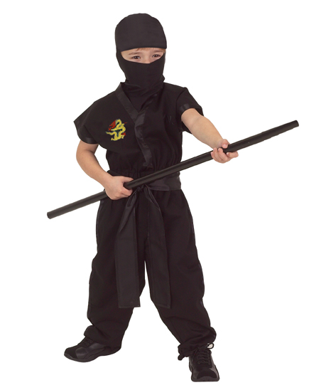 Ninja Suit - Aeromax NJ-1214 Junior Ninja Suit Size 12/14