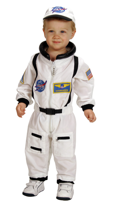 White Suits - Aeromax ASW-18M Junior Astronaut Suit With Embroidered Cap Size 18M White