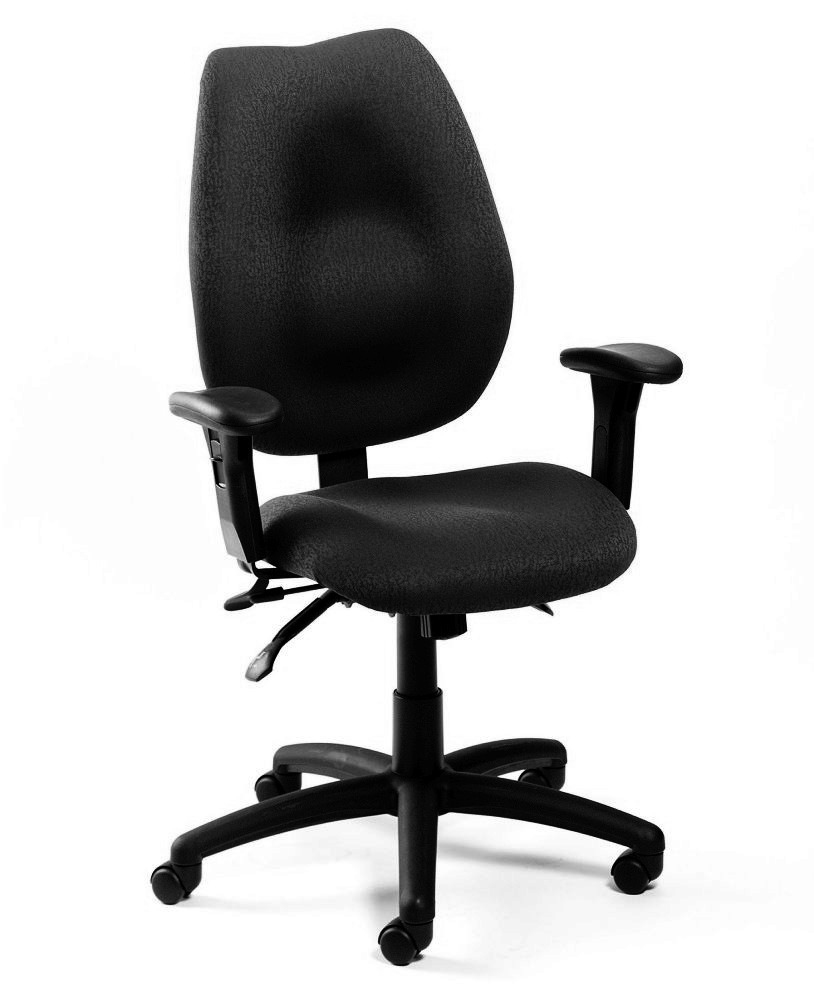 Boss B1002SS-BK High-Back Task Chair with Seat Slider in Black