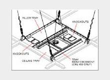 PEERLESS INDUSTRIES CMJ453 2 Pieces Suspended Ceiling Mount Kit