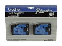 BROTHER BLACK ON WHITE  1/2inch TAPE  2 PACK TC20