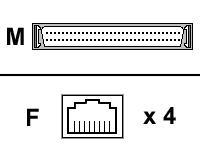 DIGI INTERNATIONAL Digi AccelePort Xp and Neo 4 Port RJ45 76000526
