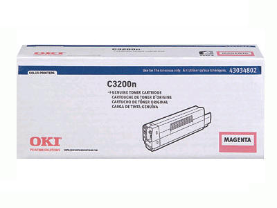 OKIDATA C3200n Magenta Toner Cartridge  1.5K   T 43034802