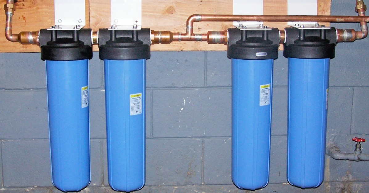 Aqua Filter Plus DPWW20CS Double-Parallel Whole House Filtration System AQUA012