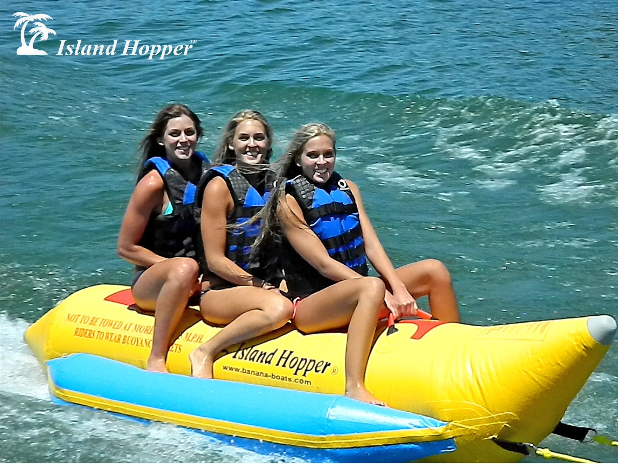 Aqua Sports 420-3 3 Passenger 13 feet in-line Seats Island Hopper Recreational Banana Water Sled