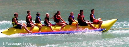 Aqua Sports PVC-8-INLINE 8 Passenger 21 Feet In-line Seats Island Hopper Commercial Banana Water Sled