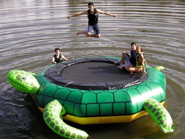 Aqua Sports TJUMP Island Hopper Turtle Jump Trampoline