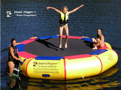 Aqua Sports 13 BSPLASH 13 Foot Island Hopper Bounce & Splash Trampoline